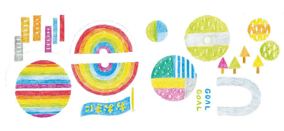 大阪マラソン2019 メインビジュアル パーツイラスト